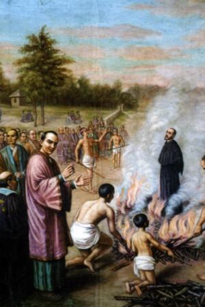 Martirio del Beato Bartolomé Gutiérrez